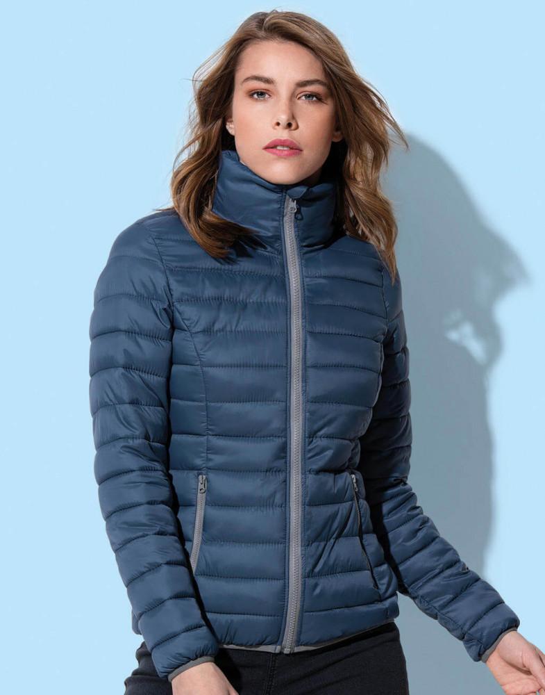 Női hosszú ujjú kabát Stedman Padded Jacket Women M, Opál fekete