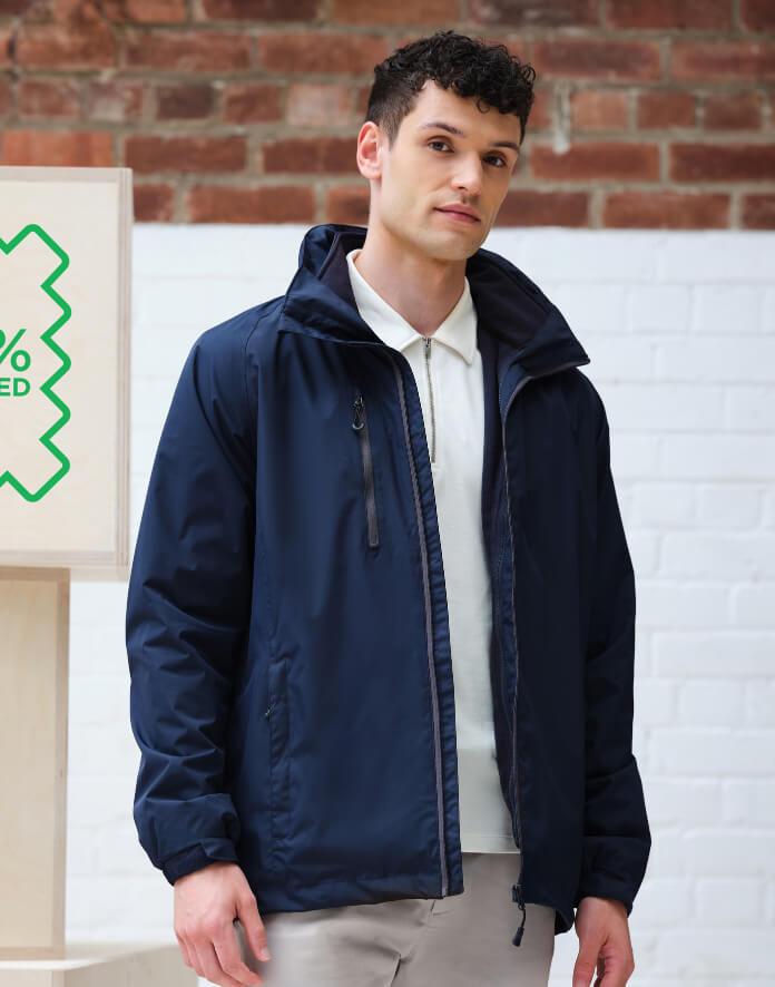 Férfi hosszú ujjú kabát Regatta Honestly Made Recycled 3-in-1 Jacket 3XL, Fekete