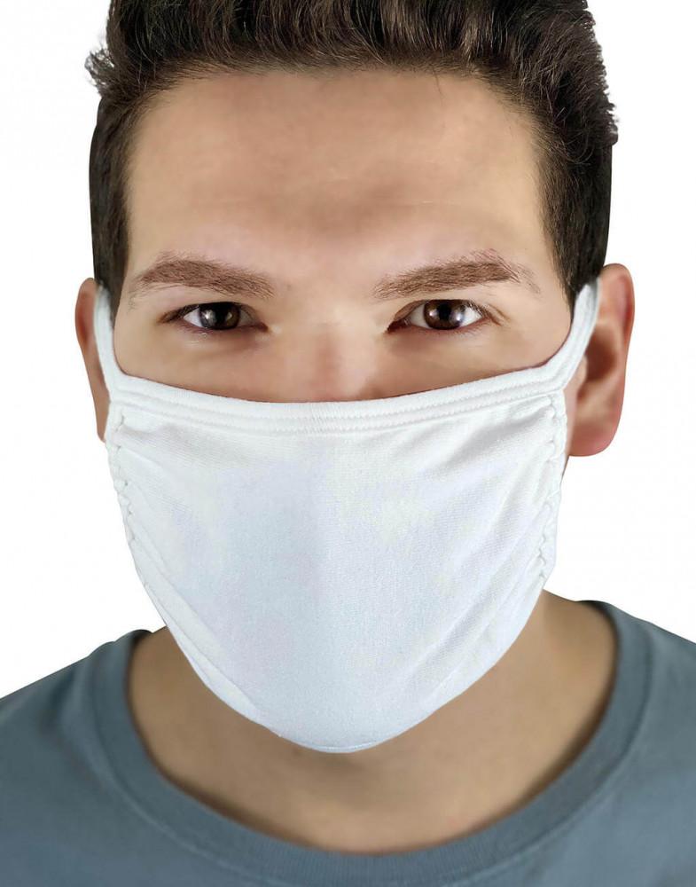Uniszex szájmaszk Fruit of the Loom Adult Face Mask 5 csomag M, Fehér